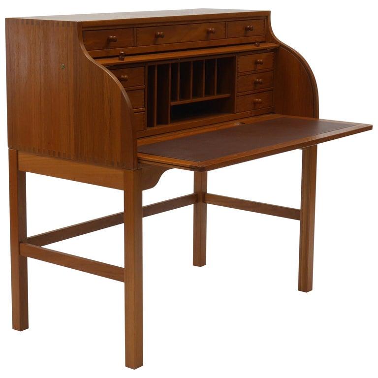 Danish Writer's Desk in Teak by Andreas Hansen For Sale