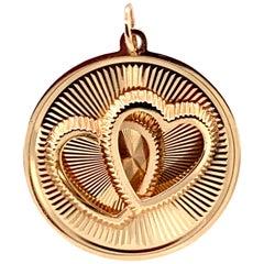 Dankner Gold Double Heart Charm