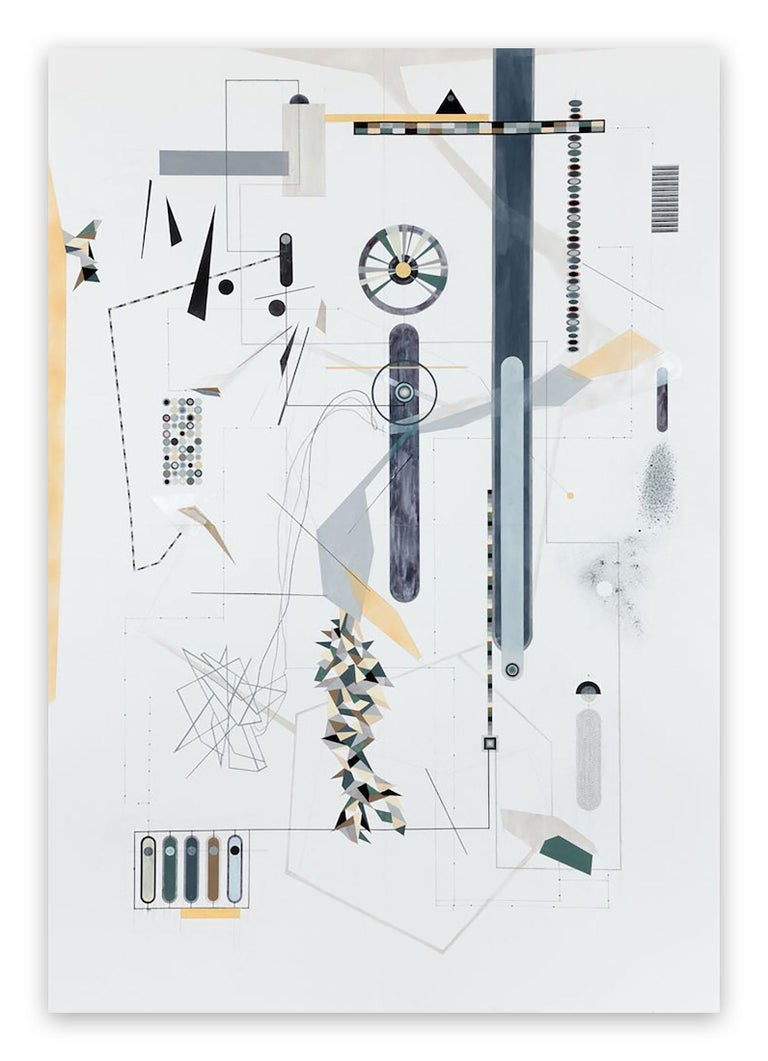 Dannielle Tegeder Abstract Drawing - Clineld (Abstract painting)