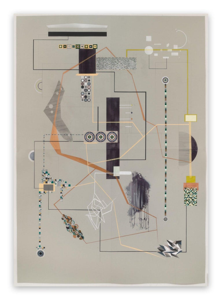 Dannielle Tegeder Abstract Painting - Lahm (Abstract painting)