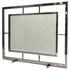 Danny Alessandro Chrome and Glass Fire Screen
