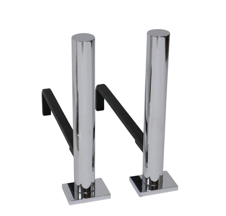 American Danny Alessandro Postmodern Fireplace Tools and Andirons For Sale