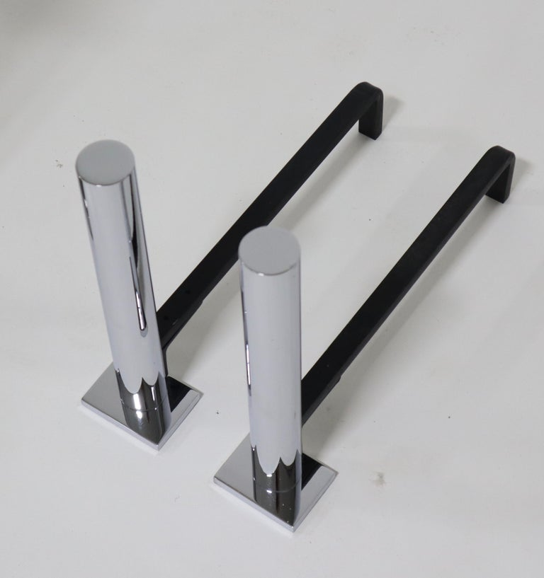 Danny Alessandro Postmodern Fireplace Tools and Andirons For Sale 1