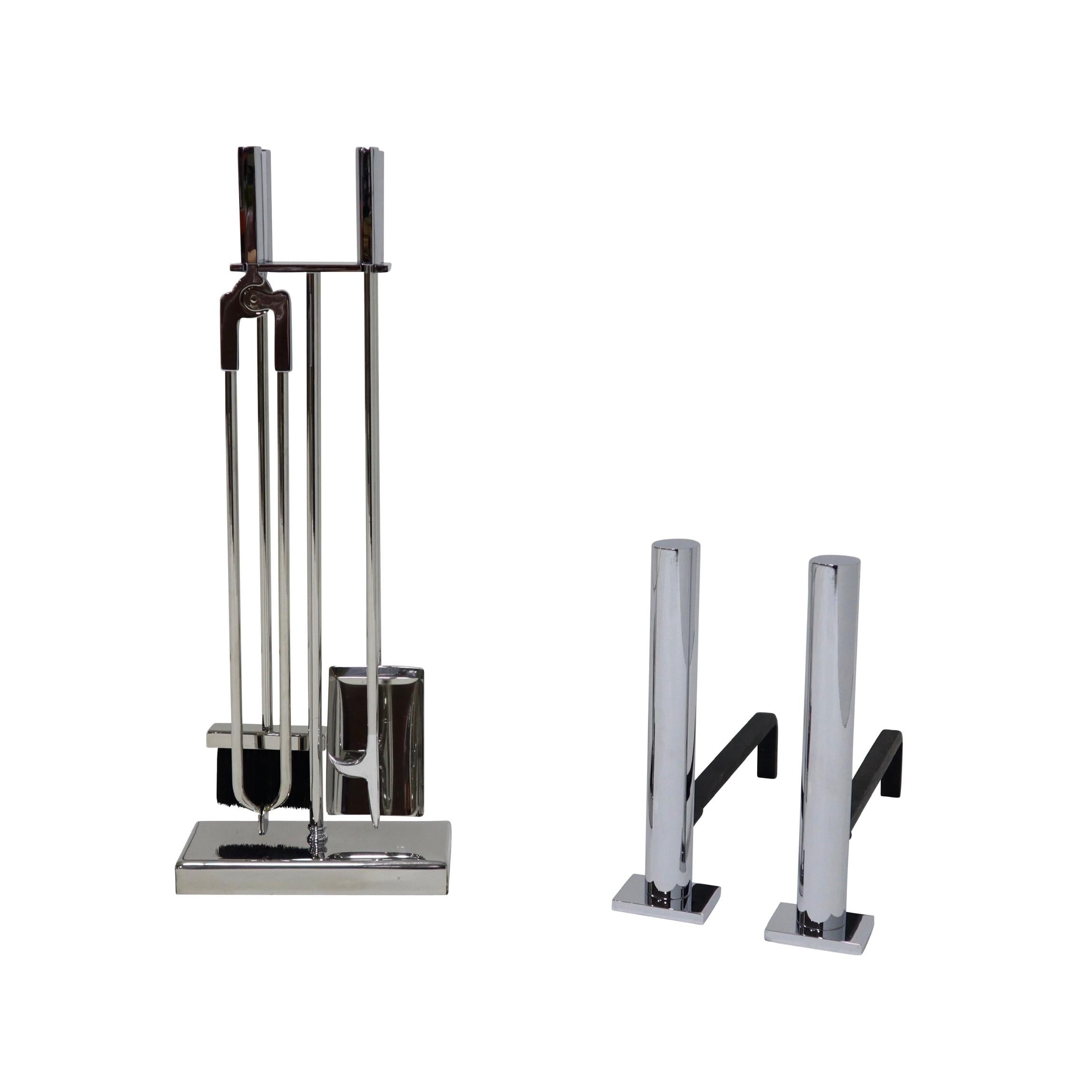 Danny Alessandro Postmodern Fireplace Tools and Andirons
