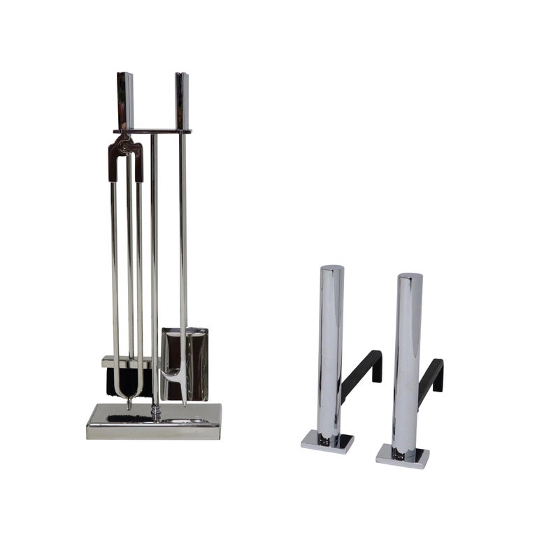 Danny Alessandro Postmodern Fireplace Tools and Andirons For Sale