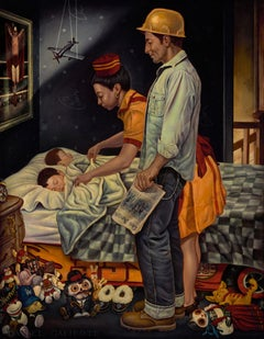Freedom From Fear, Giclee-Ed. 2/10, Danny Galieote, Norman Rockwell's 4 Freedoms