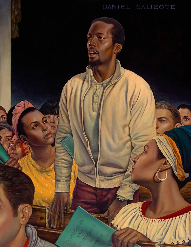 Freedom of Speech, Giclee-Ed. 2/10, Danny Galieote, Norman Rockwell's 4 Freedoms - Painting by Danny Galieote