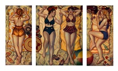 Summertime Bliss-Triptych, Danny Galieote, Limited Edition Giclee-Figurative Pop