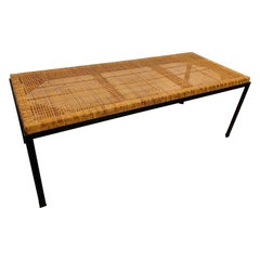 Danny Ho Fong Iron and Cane Top Table