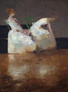 """Ballerinas"" Oil Painting"