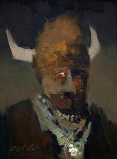 """Buffalo Bill"" Oil Painting"