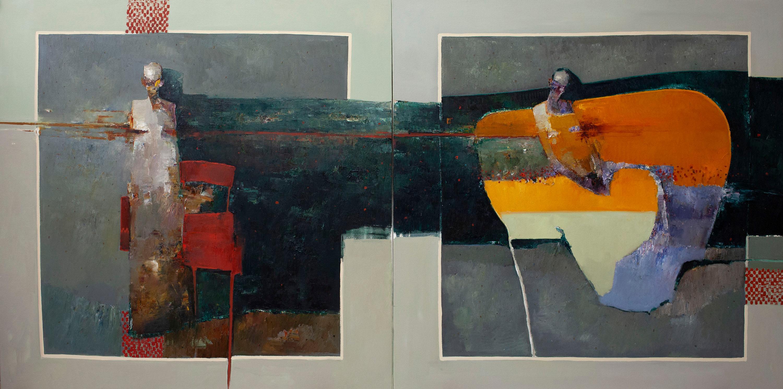 """""""Diptic"""" Oil Painting"""