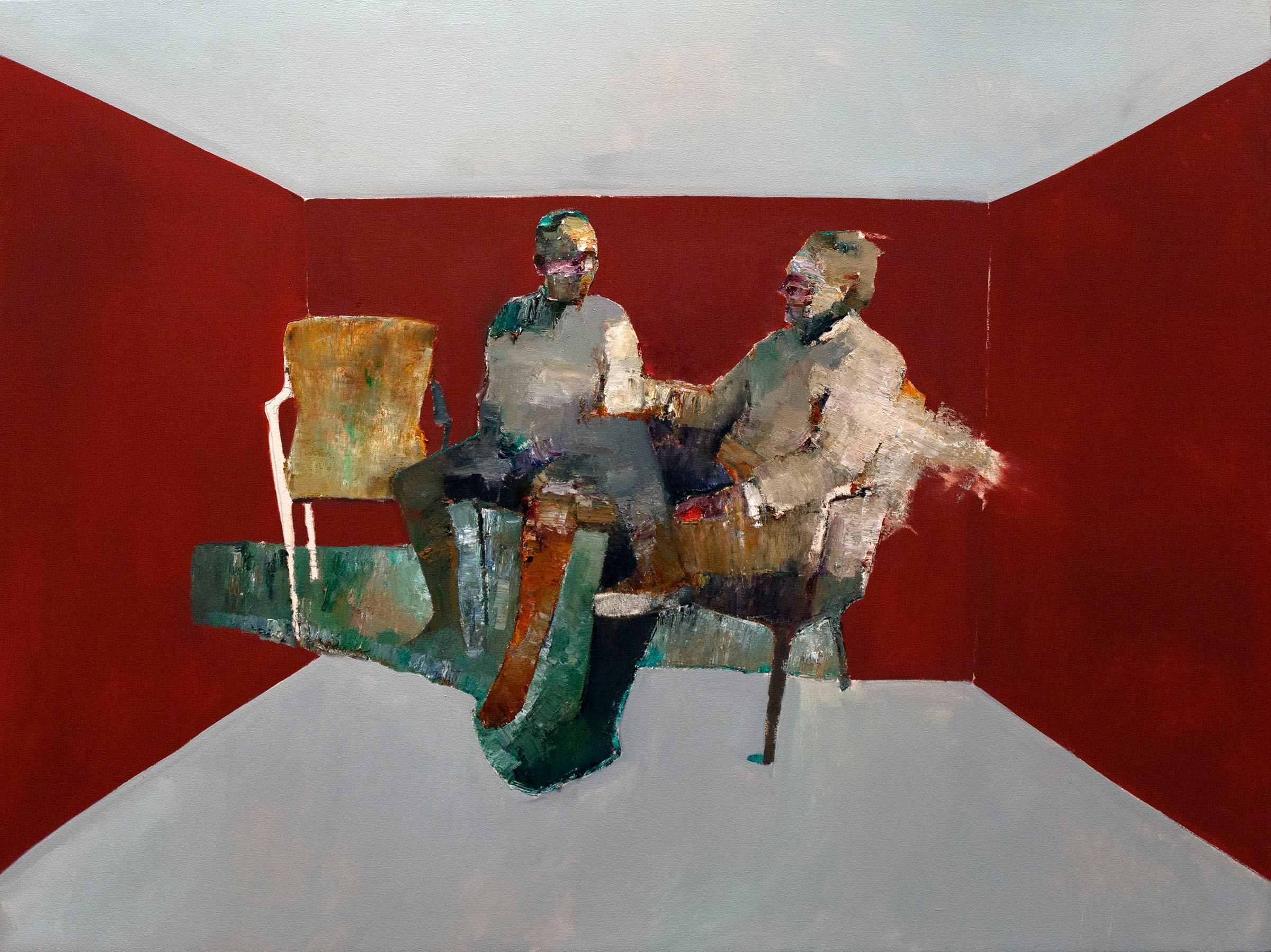 """""""Discussions"""" Oil Painting"""