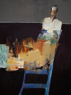 """Figure on Chair"" Oil Painting"