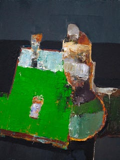 """""""Green Table"""" Oil Painting"""