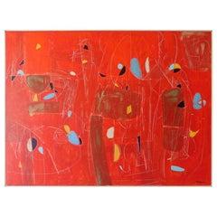 """Danse de Luciote"" an Acrylic on Canvas Painting by American Artist Ken Joaquin"