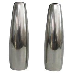 Dansk Denmark Quistgaard Design Stainless Steel Salt Pepper Shakers