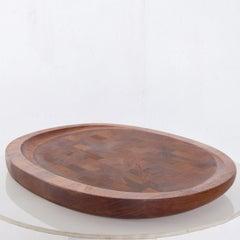 Dansk Big Staved Teak Serving Tray Carving Board Platter by Jens Quistgaard 1965