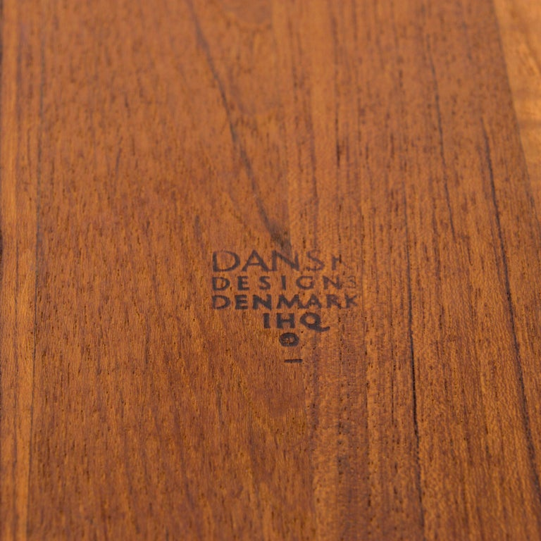 Dansk Big Staved Teak Serving Tray Carving Board Platter by Jens Quistgaard 1965 In Good Condition For Sale In National City, CA