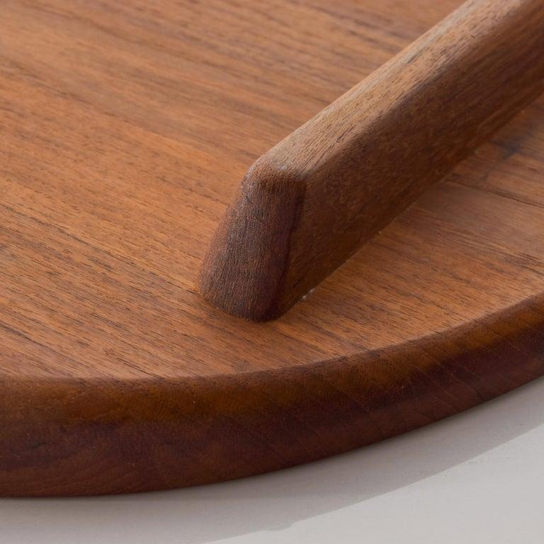Mid-20th Century Dansk Big Staved Teak Serving Tray Carving Board Platter by Jens Quistgaard 1965 For Sale
