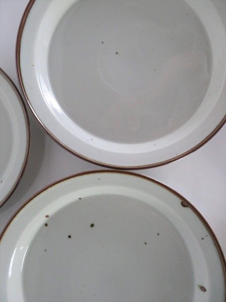 Dansk Rustic Modern Brown Mist Pattern Dinnerware Niels Refsgaard, Denmark 1970s For Sale 2
