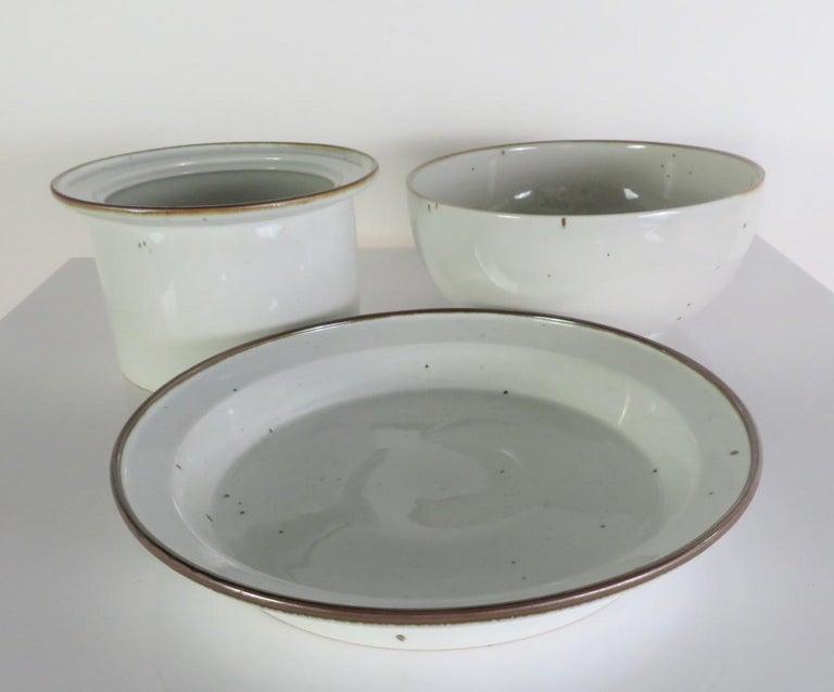 Dansk Rustic Modern Brown Mist Pattern Dinnerware Niels Refsgaard, Denmark 1970s For Sale 3