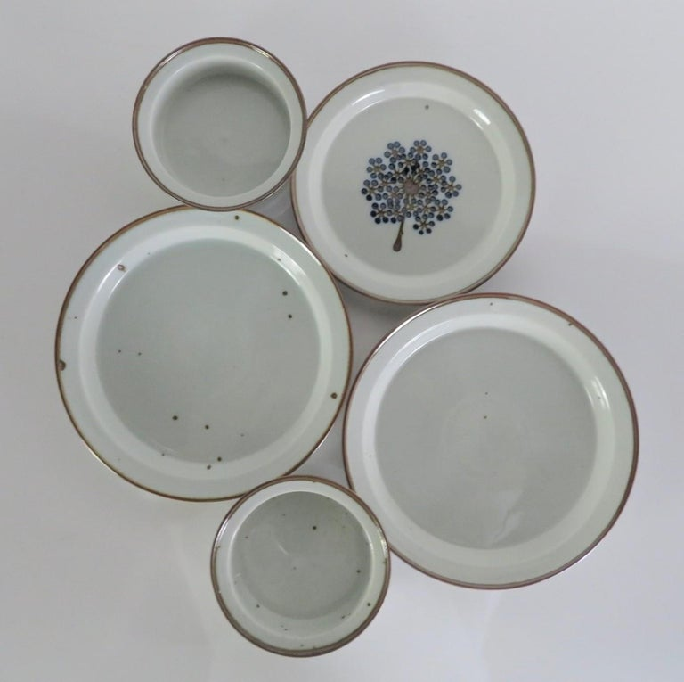 Dansk Rustic Modern Brown Mist Pattern Dinnerware Niels Refsgaard, Denmark 1970s For Sale 1