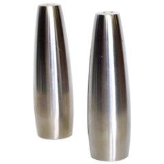Dansk Slim Stainless Steel Salt & Pepper Shakers Odin by Jens Quistgaard, 1970s