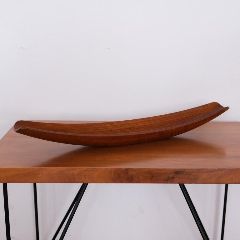 Mid-Century Modern Dansk Staved Teak Sculptural Catch All Bowl by Jens Quistgaard For Sale