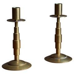 Dantorp Design, Candle Sticks, Brass, Denmark, 1960s