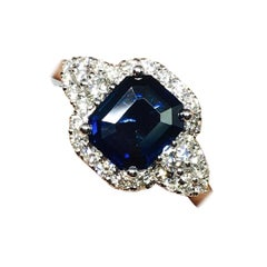 Danwak Collection 18 Karat Gold 2.14 Carat Sapphire and 0.50 Carat Diamonds Ring