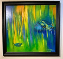 Moonlight Sonata - Impressionist, Landscape Painting on Canvas, 21st Century