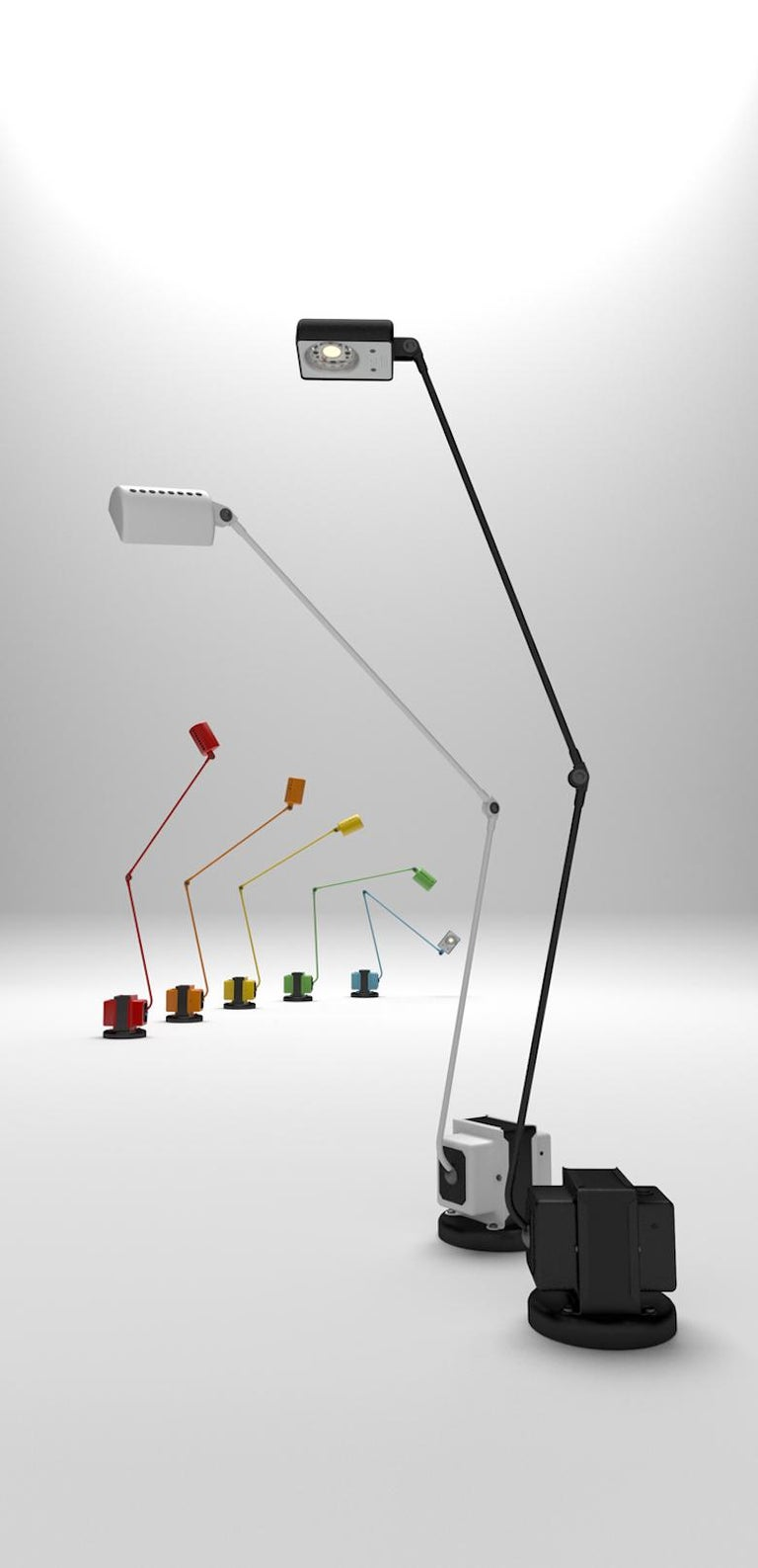 Italian Daphine Table Lamp by Tommaso Cimini For Sale