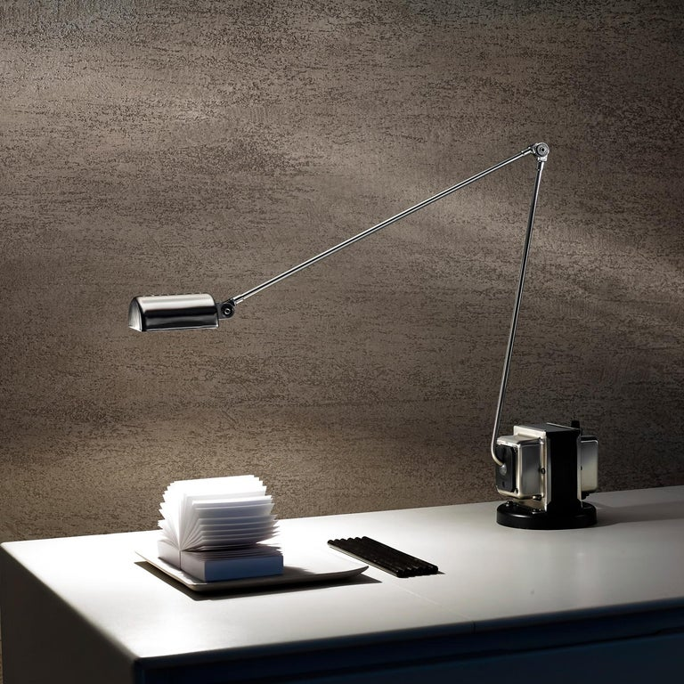 Brushed Daphine Table Lamp by Tommaso Cimini For Sale
