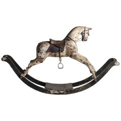 Dappled Grey Rocking Horse, England, circa 1820