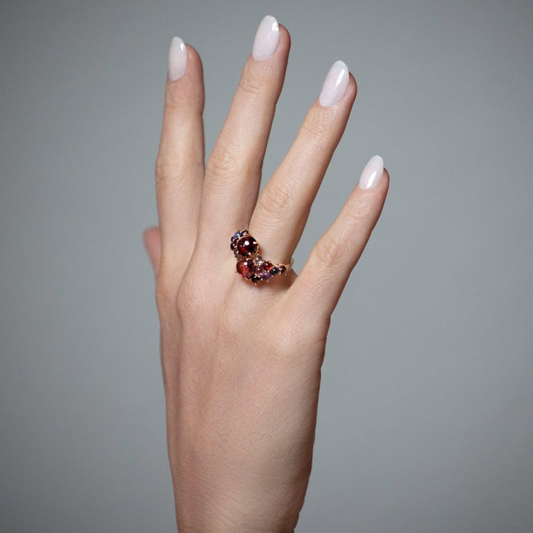 Daria de Koning Citrine and Pink Tourmaline Stacking Ring In New Condition In Los Angeles, CA