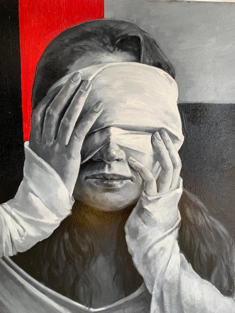 Blow up - Painting by Daria Kotlyarova