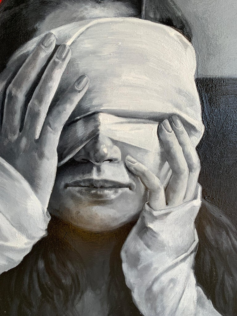 Blow up - Contemporary Painting by Daria Kotlyarova