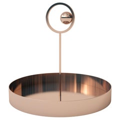 Dariel Studio off the Moon Tray in Brass with Pink Copper Finish for Cappellini