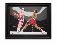 """""""Toe to Toe With Sam"""", Muhammad Ali & Uncle Sam, Action Scene, African-American"""
