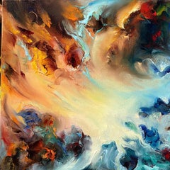 Crystal Illumination by Dario Campanile, Abstract Expressionism Oil Painting