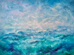 Oceano by Dario Campanile, Abstract Expressionism Oil Painting, 2019