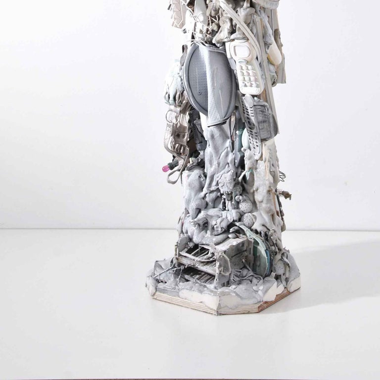 Untitled  - Gray Abstract Sculpture by Dario Tironi