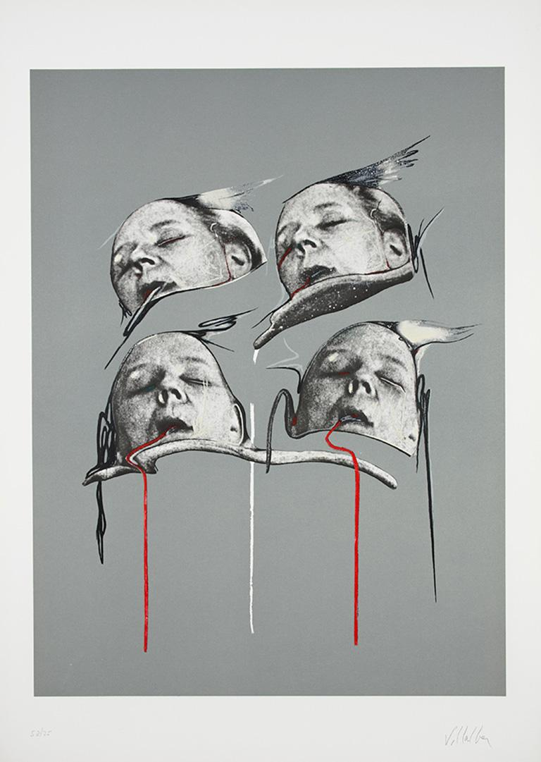 DARÍO VILLALBA: Untitled 3. Limited edition lithograph on paper. Conceptualism