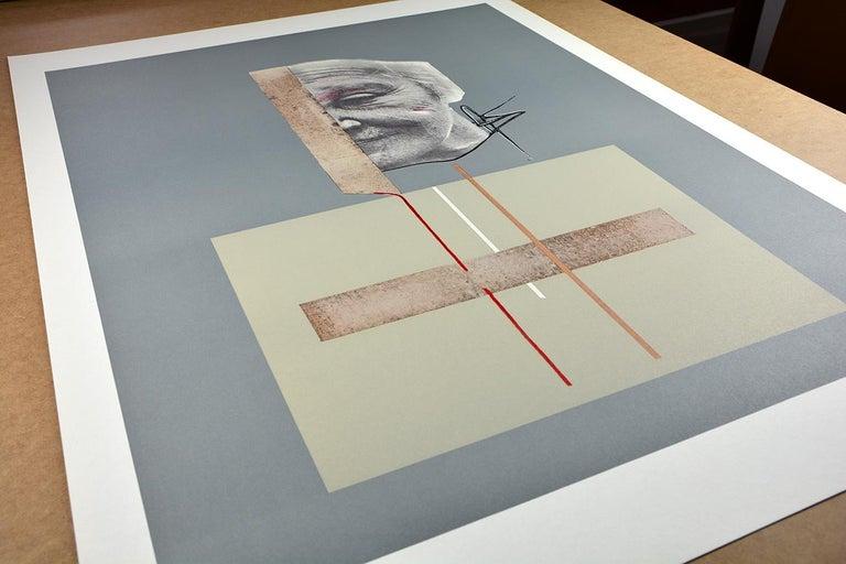 DARÍO VILLALBA: Untitled 4. Limited edition lithograph on paper. Conceptualism - Print by Dario Villalba