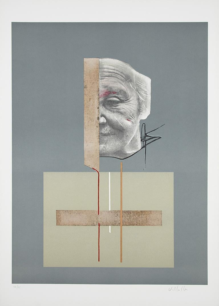 DARÍO VILLALBA: Untitled 4. Limited edition lithograph on paper. Conceptualism