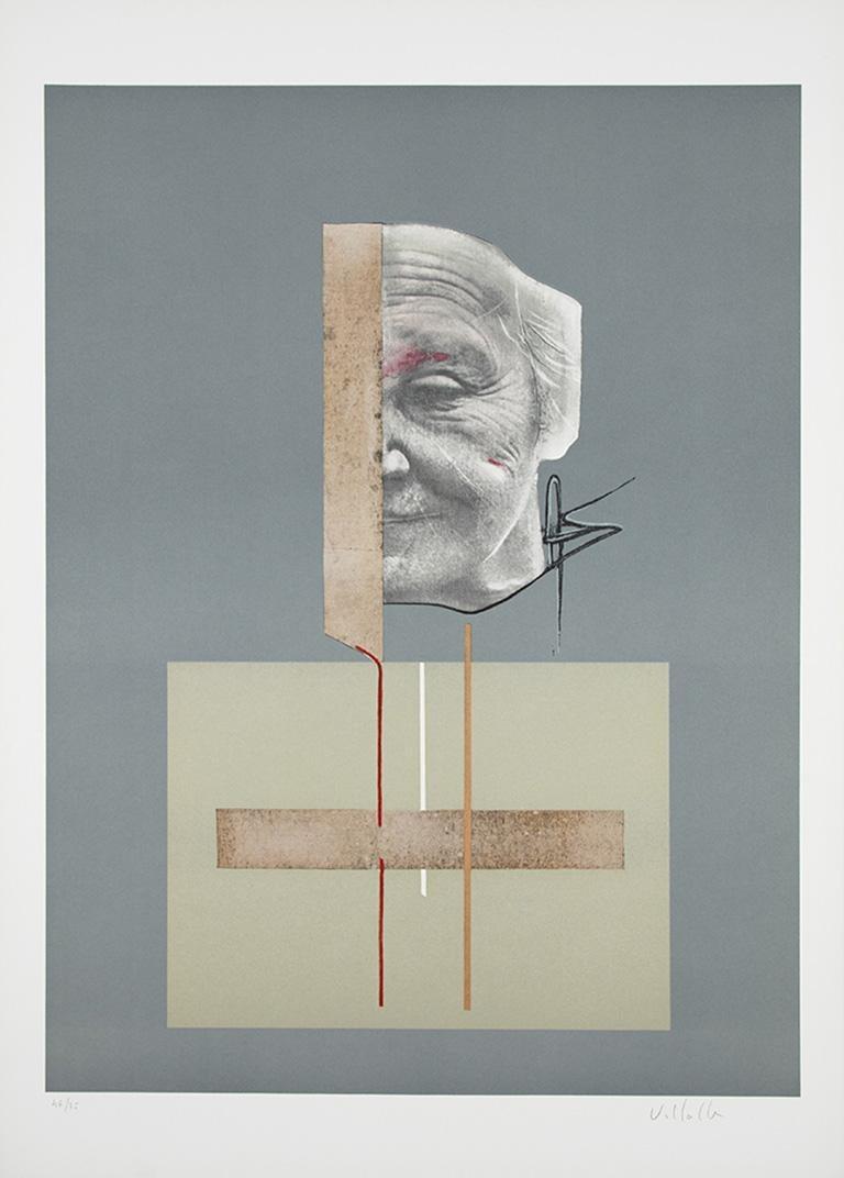 Dario Villalba Abstract Print - DARÍO VILLALBA: Untitled 4. Limited edition lithograph on paper. Conceptualism