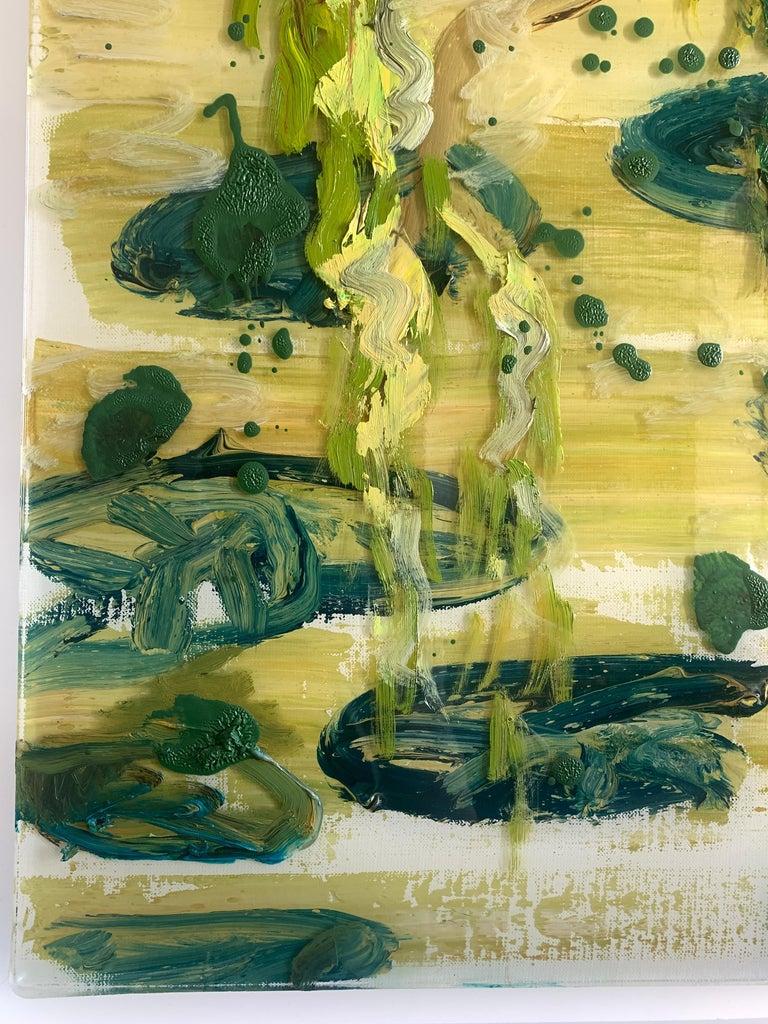 Edge of Pond - Contemporary Painting by Darius Yektai