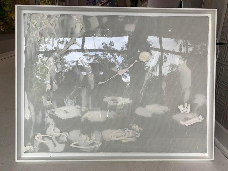 White Willow Lilies  - Contemporary Painting by Darius Yektai