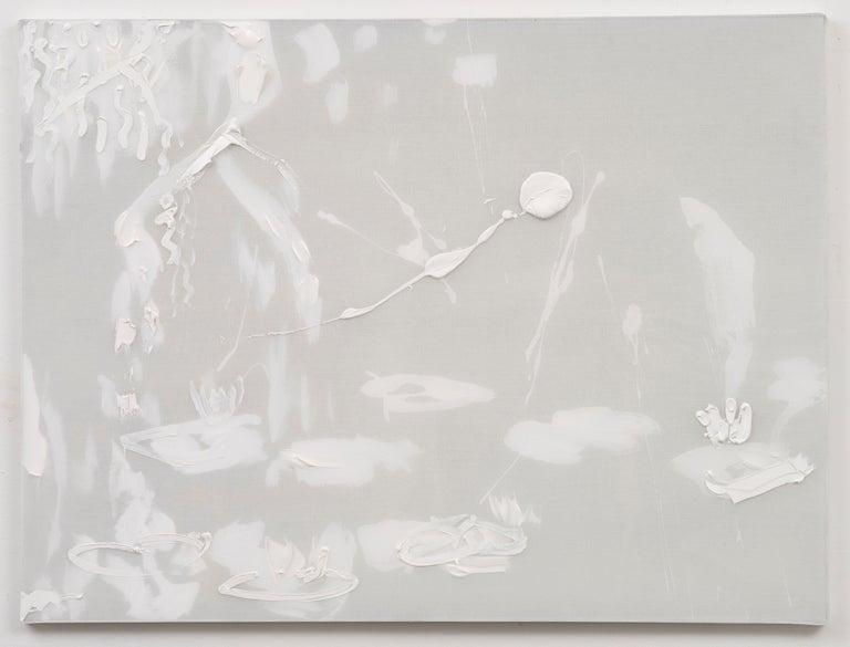 Darius Yektai Abstract Painting - White Willow Lilies